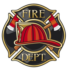 fire department or firefighters maltese cross symb vector image vector image