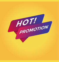hot promotion tag sign vector image