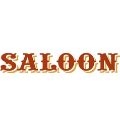 Saloon title vector image vector image