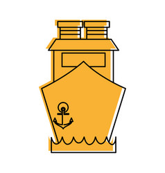 ship frontside icon image vector image