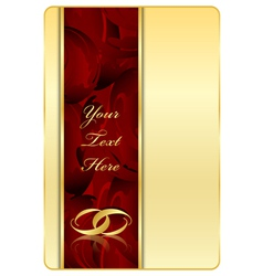 gold red background with rings vector image
