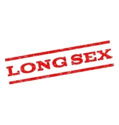 Long Sex Watermark Stamp vector image