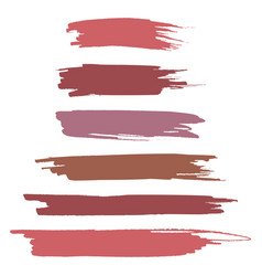realistic brush strokes vector image vector image