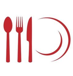 restaurant symbol vector image