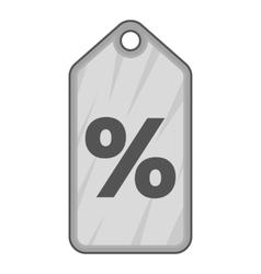 Sale tag icon gray monochrome style vector image