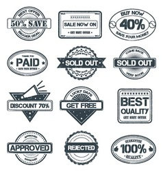 Selling Rubber Stamp vector image