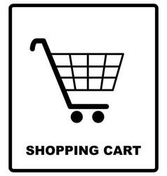 shopping cart sign mandatory vector image vector image
