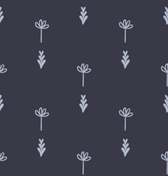 Cute floral geometric seamless pattern vector image