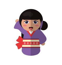 doll kokeshi japanese image vector image