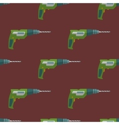 electric drill seamless pattern vector image vector image