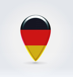 German icon point for map vector image vector image
