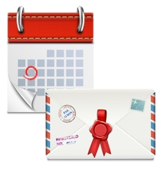 Loose-leaf Calendar With Closed Envelope vector image