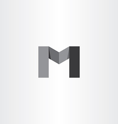 m black icon letter logo sign vector image