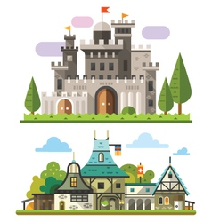 Medieval stone fortress vector image vector image