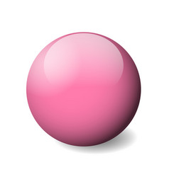 pink glossy sphere ball or orb 3d object vector image vector image