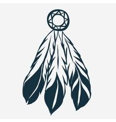 Tribal feathers dreamcatcher vector