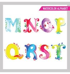watercolor alphabet M vector image