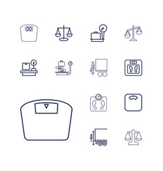 13 scales icons vector