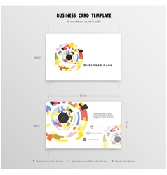 Abstract Creative Business Cards Design vector