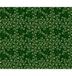 Abstract oriental seamless background in green and vector image