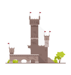 ancient castle fortress citadel or stronghold vector image
