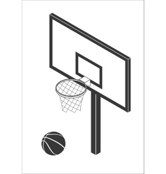 Basketball backboard icon vector image
