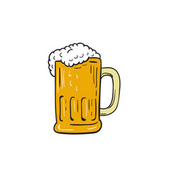 beer mug drawing vector image