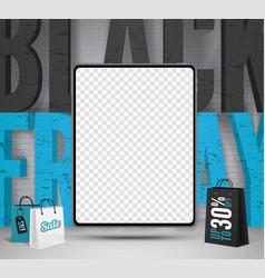 Black friday tablets sale banner template vector