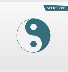 blue yin yang icon isolated on background modern vector image