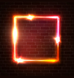 bright glowing square background shape vector image