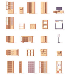 Cabinets set vector