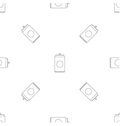 can pattern seamless vector image