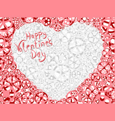 card of valentines heart vector image