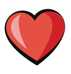 Cartoon heart love romantic adorable cute image vector