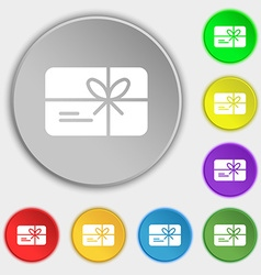 Certificate icon sign Symbol on eight flat buttons vector