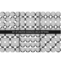collection monochrome seamless creative vector image
