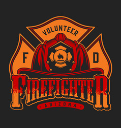 Colorful firefighter logotype vector