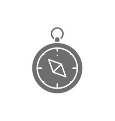 Compass navigator grey icon isolated vector