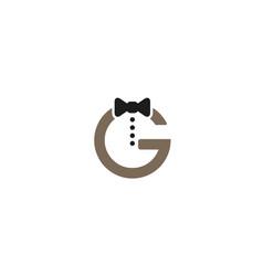 creative necktie g letter logo design symbol vector image
