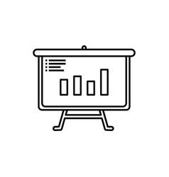 data presentation icon flip chart vector image