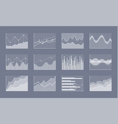 diagram collection on grey vector image