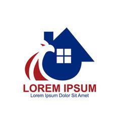Eagle home logo vector