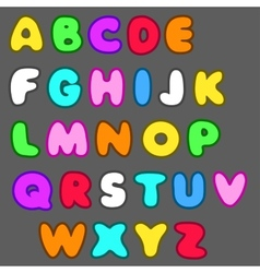 english alphabet in cartoon style vector image