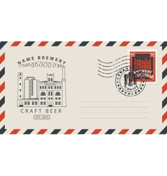envelope with a postage stamp for a pub vector image