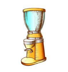 espresso energy drink brewing machine ink vector image
