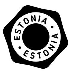 Estonia stamp typ vector