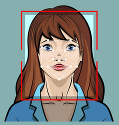 face recognition system biometric vector image