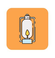 Flat color lantern icon vector