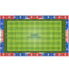 flat object design set soccer stadium top view vector image