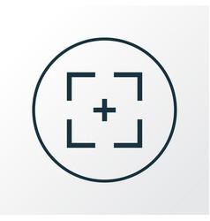 Full screen icon line symbol premium quality vector